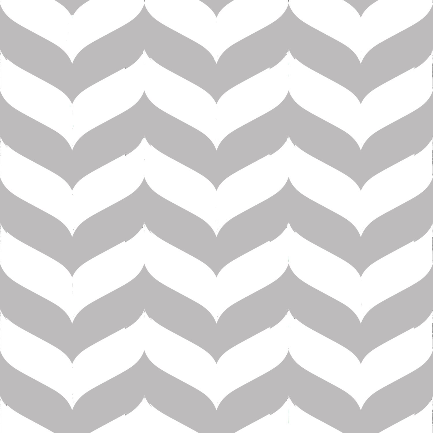 🔎zoom - Removable Wallpaper Wave Chevron Print In Gray And White