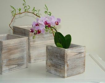 wood box woodland planter flowers vases rustic pot square vases for wedding wooden boxes rustic shabby chic wedding orchids centerpieces