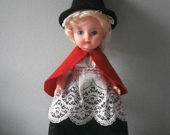 Lg Vintage Welsh Doll costume souvenir Welsh Lady