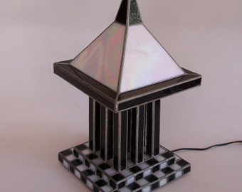 Stained glass table lamp - Thai temple style - free shipping