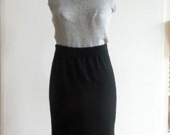 SALE~take 20% off~ CHANEL Black Cashmere Skirt