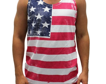 Hand Painted American Flag Tank Top