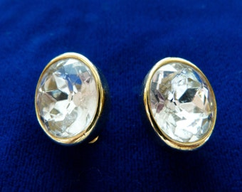 From the Seventies large RHINESTONE EARRINGS