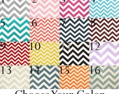 Window Valance - Choose your Color! Chevron Curtain Valance - 50x14 inches