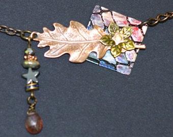 Pink Quartz, Leaf, Animal Skin, Flower, Star, Necklace and Earring Set