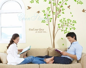 Nursery Wall Stickers Wall Decals Wall Mural Home Decoration-Nature Tree Decal Sweet Tree