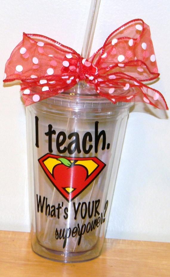 Personalized Teacher Gift tumbler 16oz BPA free