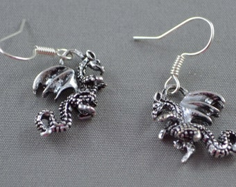 Dragon Earrings, wings, fantasy, fairy tale