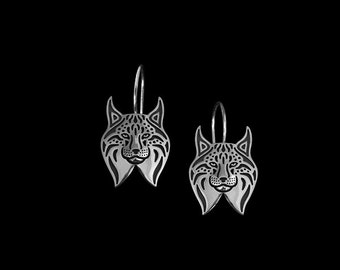 Lynx earrings - sterling silver