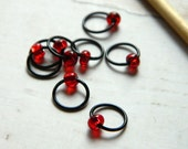 Volcanic / Knitting Stitch Markers - Dangle Free Snag Free  - Small Medium Large Sizes Available