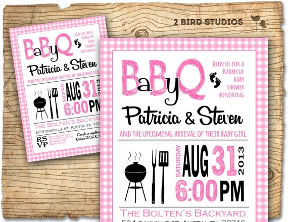 baby shower invitation barbecue baby q baby shower invite, Baby shower invitations