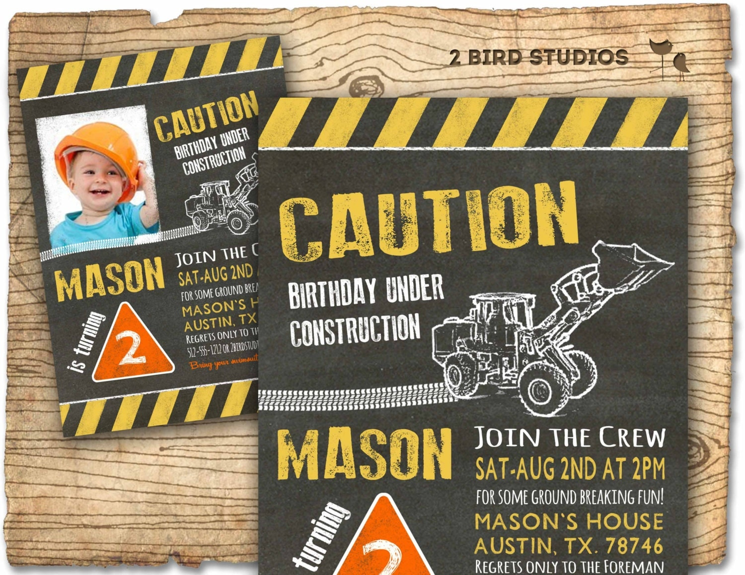 Construction Birthday Party Decorations Construction Invitation In Chalkboard Optional Construction