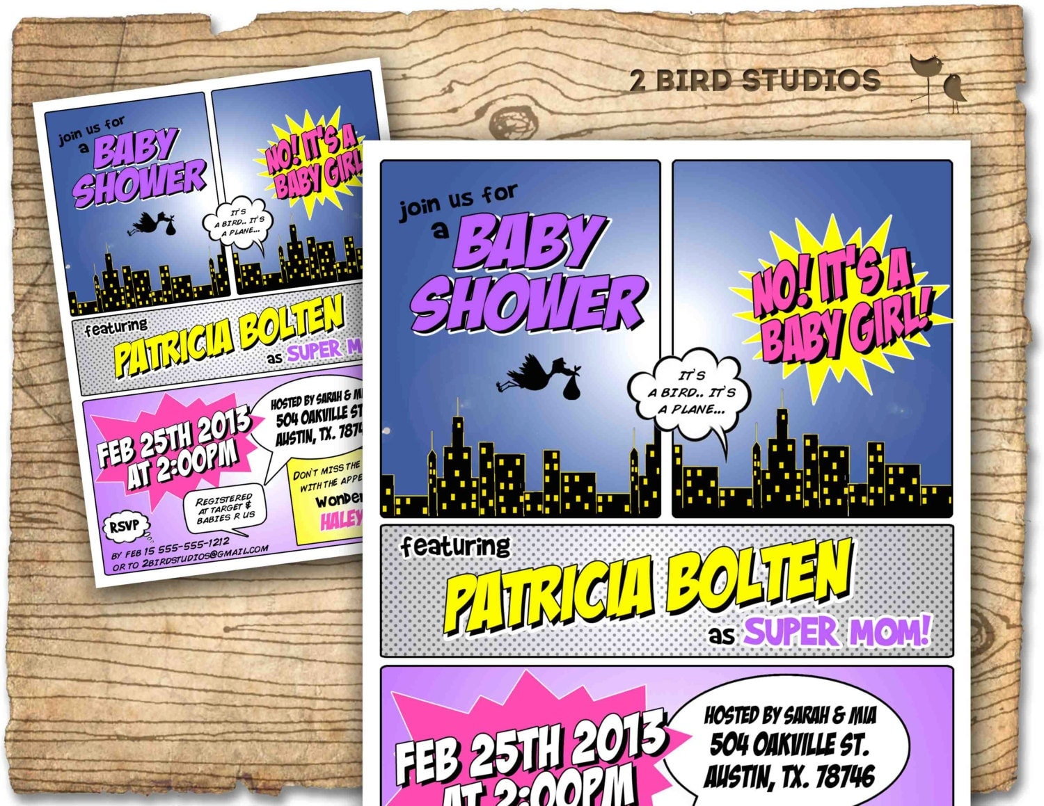 superhero baby shower invitation superhero by birdstudios, Baby shower