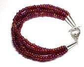 Garnet MultiStrand Bracelet