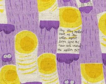 Itsy Bitsy in Plum from Nursery Versery by Heather Ross  for Kokka