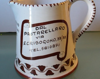 Vintage Advertsing Ricordi Pitcher Made in Italy