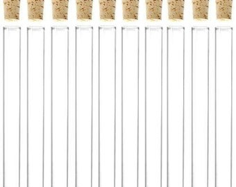 20 GLASS TEST TUBES With Corks
