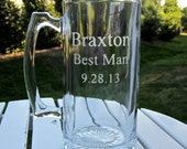 Etched Beer Mug - 3 Lines of Text