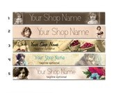 ETSY SHOP BANNERS Little Girl 2 Etsy Shop Banners and 2 Etsy Shop Avatars