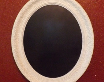 FREE SHIPPING Wedding Shabby Chic Framed Chalkboard Large Oval Chalkboard Restaurant Menu Ornate Vintage Frame Photo Prop Message Board