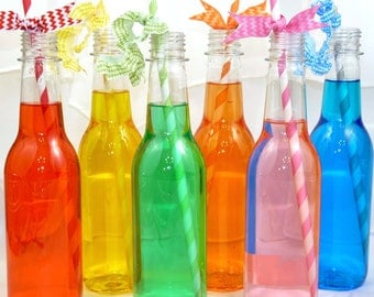 SODA BOTTLE Plastic  set of 10 Plastic BPA Free - ReTrO Style SoDA Bottles -Un-Breakable p.e.t. Plastic, SodA Shop 50's Sock Hops & Drive in