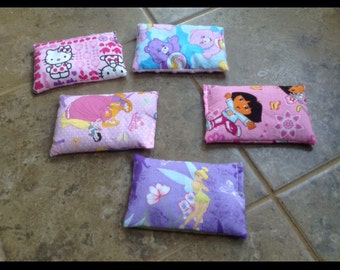 Adorable kids all natural flax seed ice packs