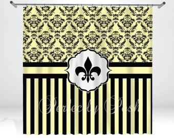 Personalized Fleur De Lis Shower Curtain