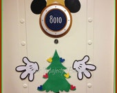 Mickey Mouse as Christmas Tree Body Part Cruise Door Magnet