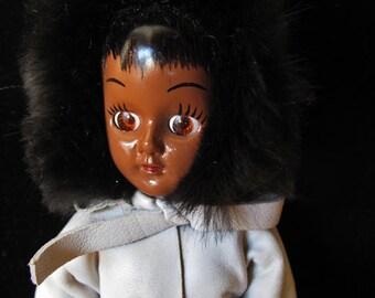 Vintage 1950's - Eskimo Character Doll