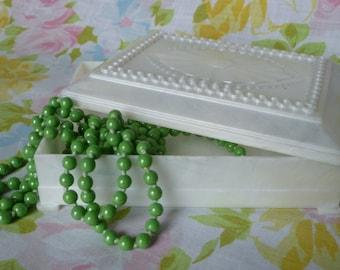 Acrylic Mother of Pearl Trinket Box - Wedding Jewelry Storage - Victorian Design