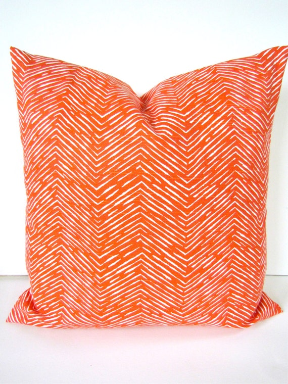 Fall PILLOW COVERS Orange 18x18 Decorative by SayItWithPillows