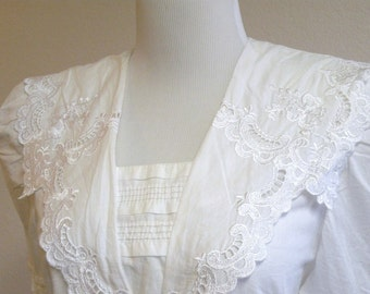Victorian Inspired  White Lawn  Blouse by Scott McClintock size 8