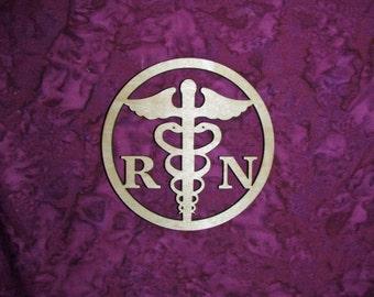 Registered Nurse wood cut out unfinished wooden R N