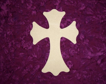 """Unfinished Wood Cross Wooden Crosses 11"""" Inch Tall Paintable MDF Crafts  Part MC11-129"""