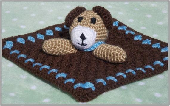 Free Crochet Dog Lovey Pattern : Puppy Lovey Crochet Pattern ... Instant Download