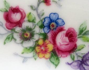 """Porcelain Tea Set for 5: Teacups, Saucers and Tea Plates,  """"Bouquet"""""""