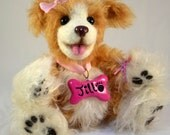 Handmade OOAK mohair dog