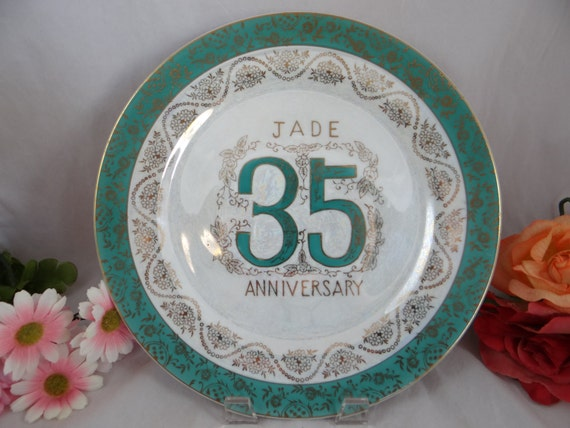 Jade Gifts 35th Wedding Anniversary: Vintage 35th Jade Wedding Anniversary Norcrest Fine China