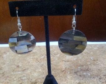 Beautiful pierced shell drop earrings