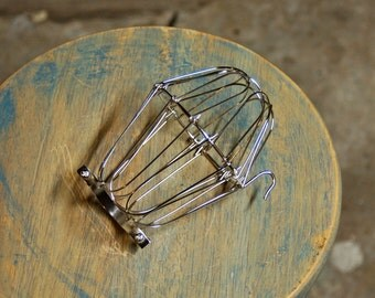 Nickel Wire Bulb Cage, Clamp On Lamp Guard, For Vintage Trouble Lights - Top Quality Supplies For Your Handmade Lighting, Lamps, Pendants