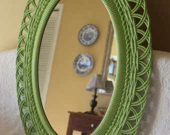 Large Vintage Burwood Oval Mirror / Shabby Cottage Chic French