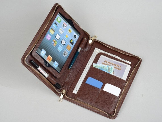 Ipad Mini Portfolio Purse Case With Notepad Holder And Ipad