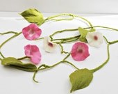 Flower garland, garland felt, felt garland, garland, window decoration