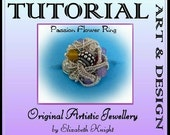 Wire Wrapping Step-by Step-Tutorial  Passion Flower Ring Instant Download