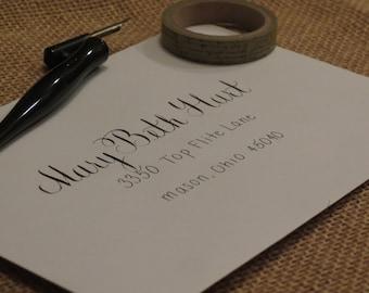 Custom Wedding Envelope Calligraphy