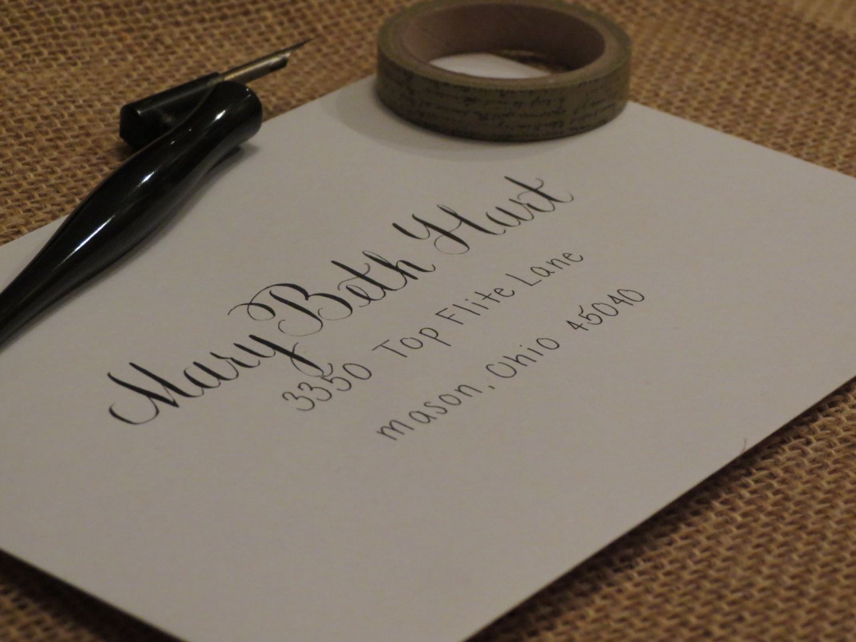Wedding Invitation Envelope Calligraphy: Custom Wedding Envelope Calligraphy