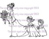 A digital stamp/image instant download.... The Wedding!