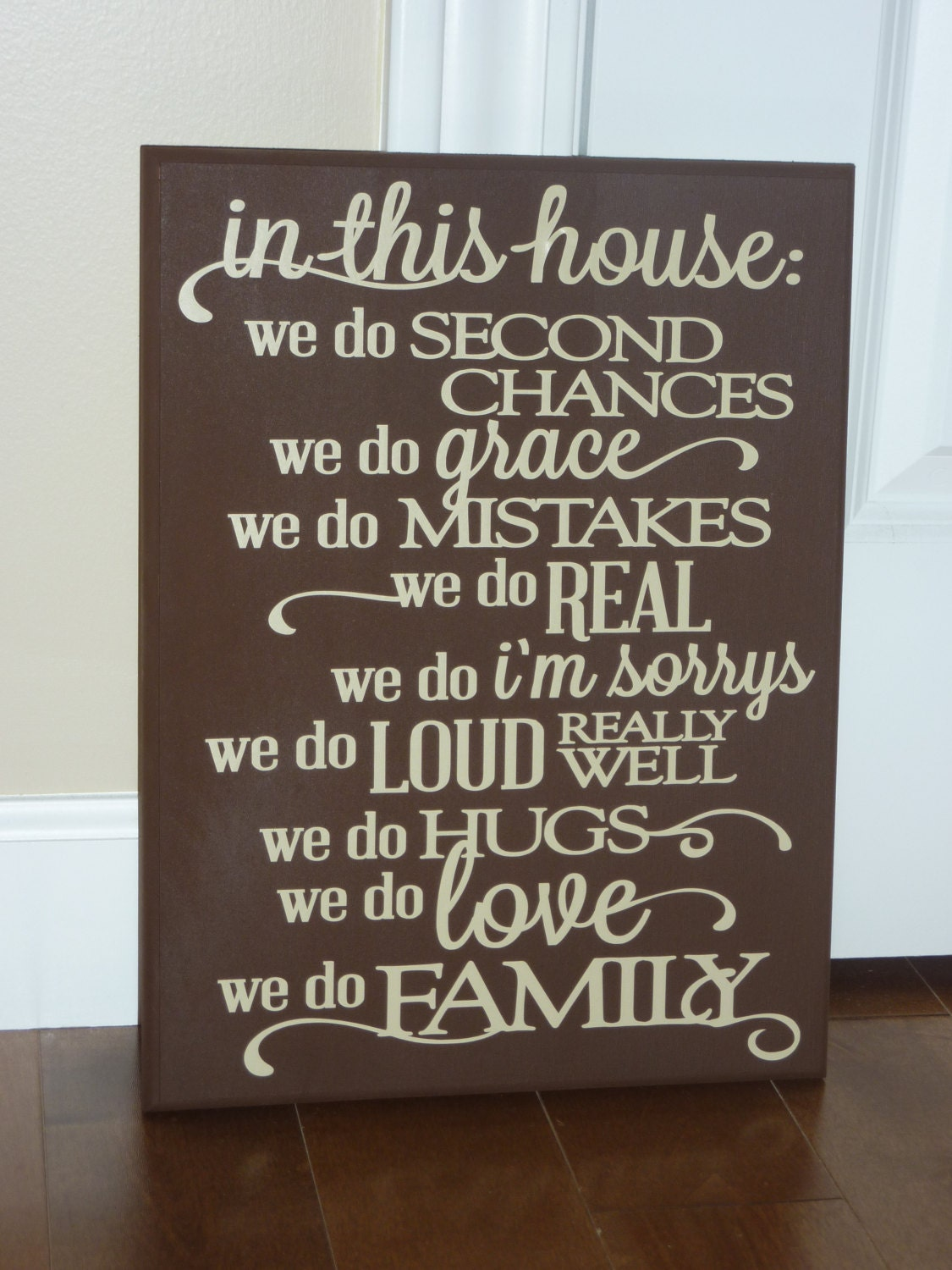 Family Celebrations Plaque in This House Family Plaque