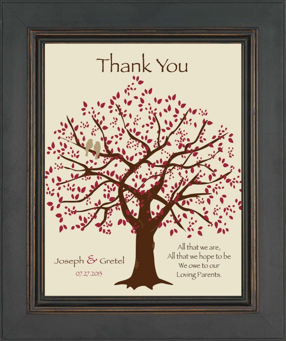 wedding gift for parents from bride and groom thank you gift for