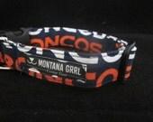Dog Collar....GO BRONCOS...let your critter show their team pride